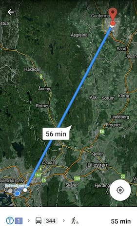 from the airport to oslo s around 30 minutes by train.