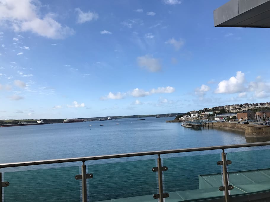 The sea and horizon beyond - view from south facing balconies