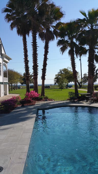 Views of Lake Pontchartrain from the patio and pool