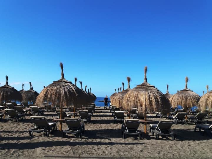 Estudio Playa de las Américas. Piscinas+playa+wifi
