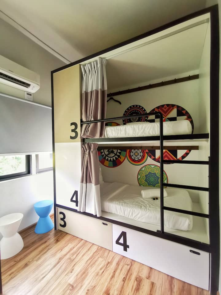 4-Bed Mixed Capsule with Shared Bathroom @ TOOJOU