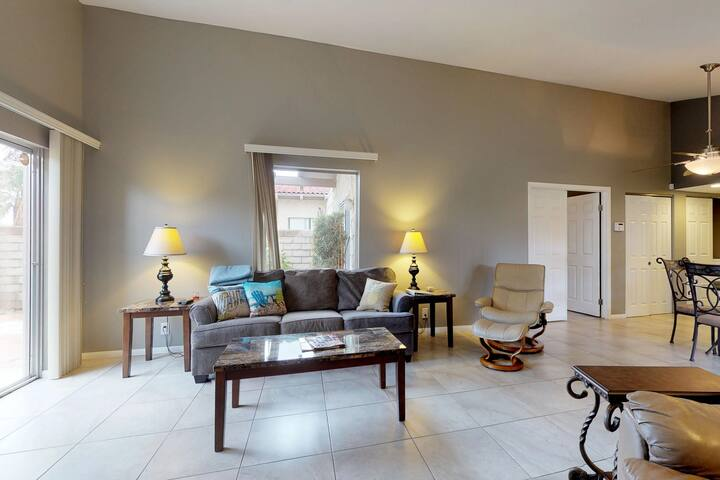 NEW LISTING! Indian Palms Country Club Townhome on golf course, near festivals