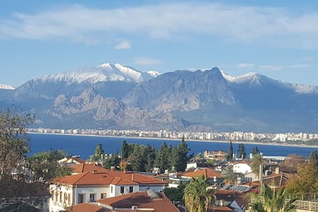 Antalya Old town best view. Hadrian's Gate Kaleici
