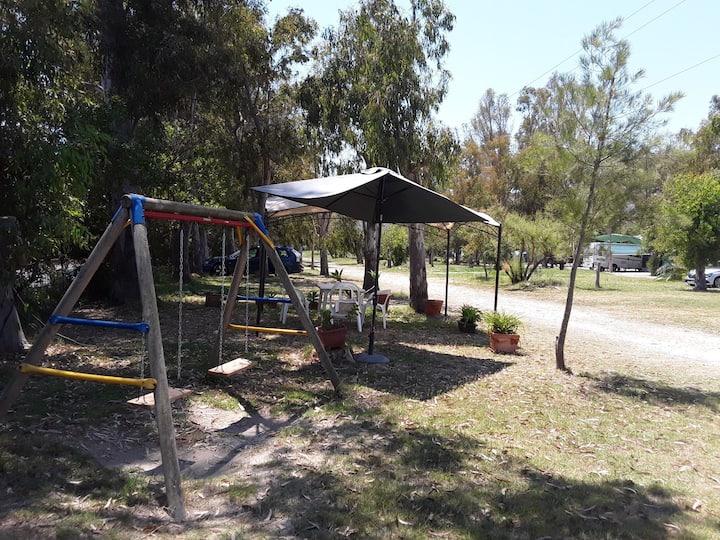 Cabañas de madera en camping marjal