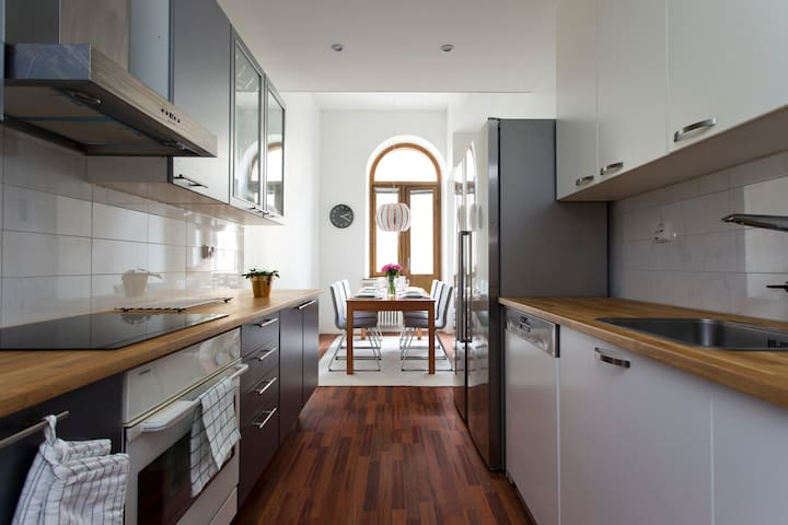 Modern and stylish five room city apartment