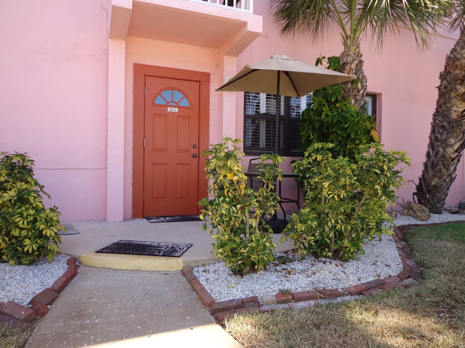 Front Entrance With Small Patio