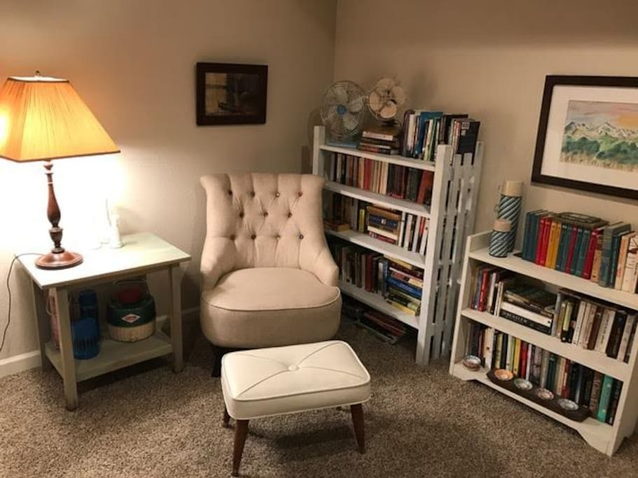 Downstairs reading nook.