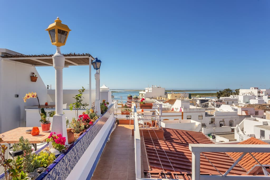 Magnificent views over the Ria Formosa & Atlantic ocean