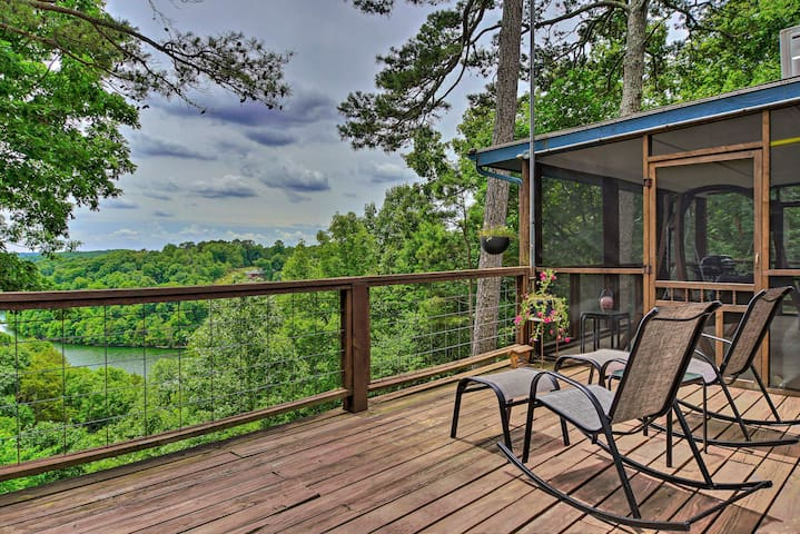 NEW! Beaver Lake Home w/View, Private Pool + Slide