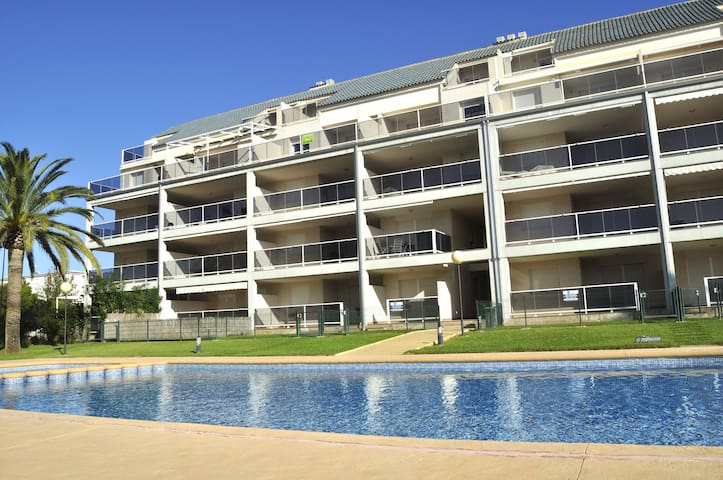 Lovely apartment 120 with two bedrooms in ground floor.