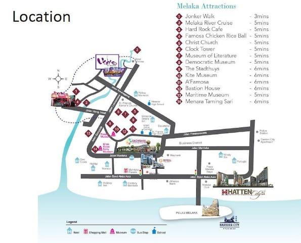 Seaview 2 beds condo malacca city - Melaka - Lägenhet