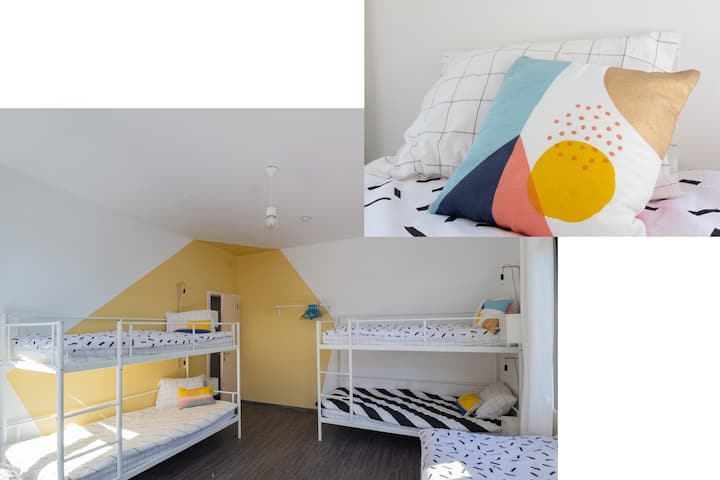 BED in FUNKY COMFY 6-bed FEMALE DORM – bed 6