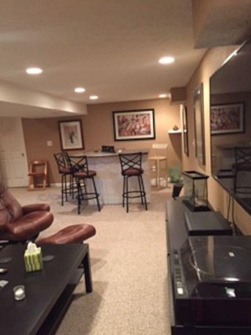 Basement Suite Living area
