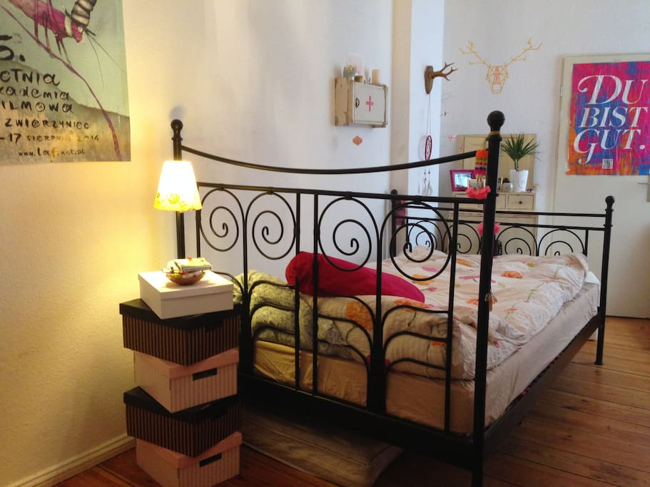 Good sleep in a huge comfortable bed is a solid base to enjoy the atmosphere of Berlin