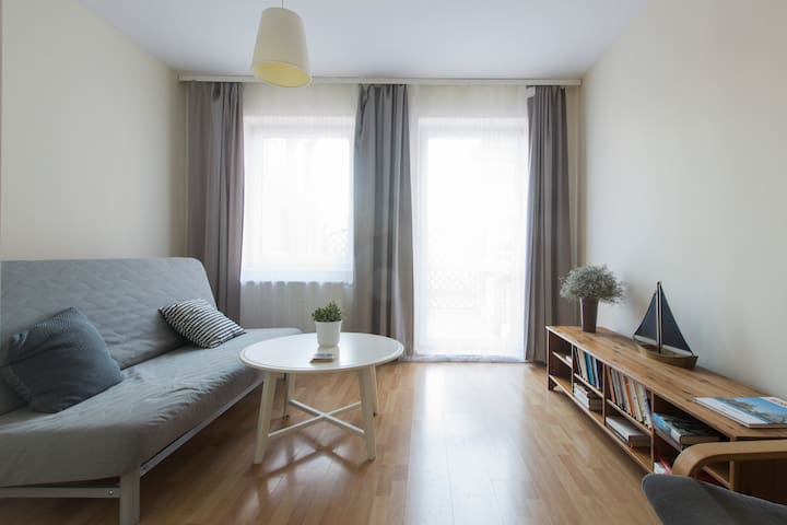 Cosy flat in a green, quiet & safe area