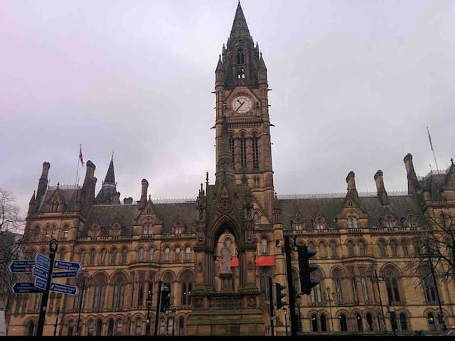 Manchester Town Hall - 0.5 miles away