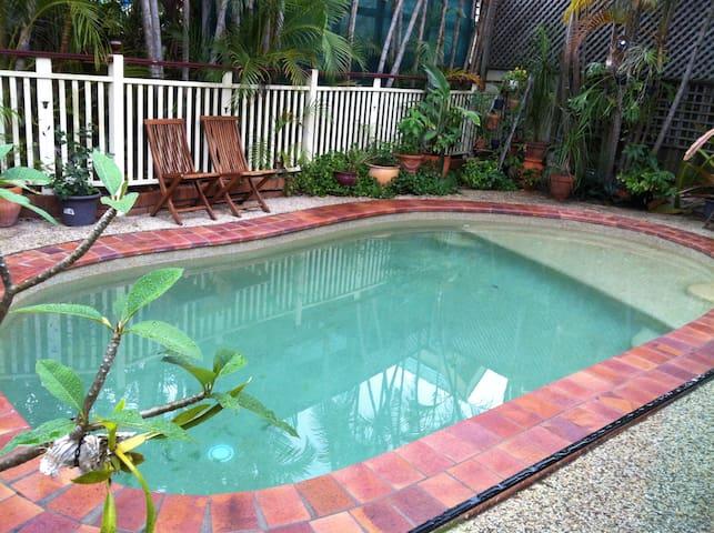 Swimming pool area.