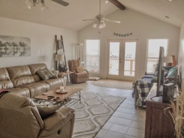 Newly updated 3 bedroom 2 bath Fort Morgan cottage with beautiful beach view.