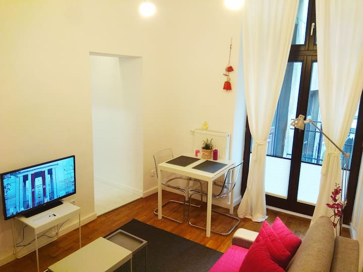 Cosy studio with balcony in the city centre