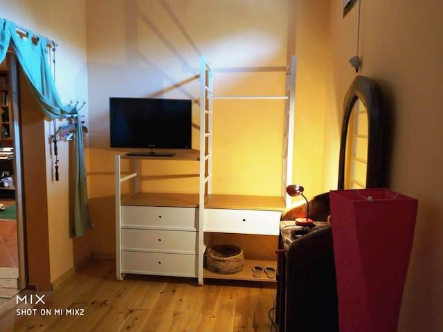 La camera da letto dedicata agli ospiti