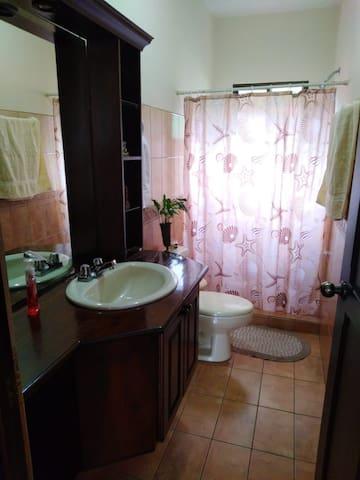 El SS y ducha es amplio (ni comparable con los de Europa)  y está al lado de la habitación.