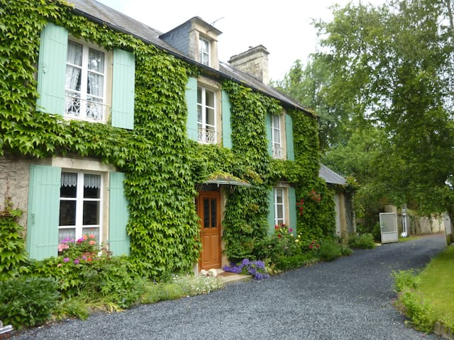 The house with green shutters