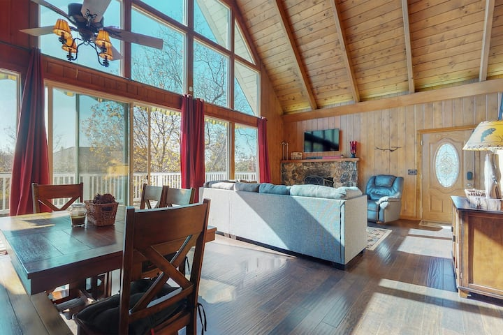New listing! Charming wood interior home with scenic views!