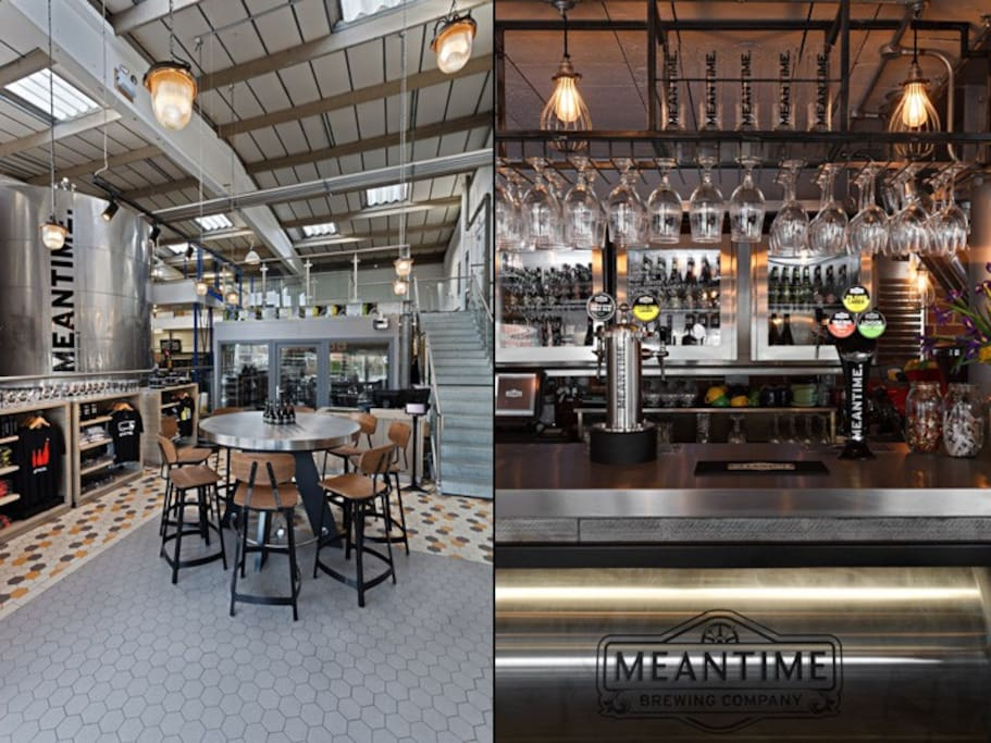 Well-known Meantime Brewery is just some steps