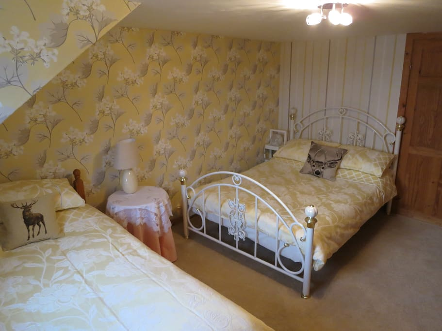 Bedroom 1 - Double bed and single bed