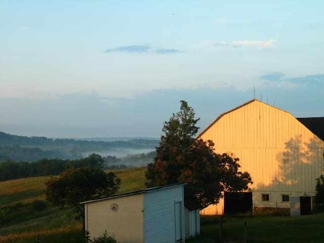 135 acre beautiful farm only 45 min to Pittsburgh! - Leechburg - Rumah