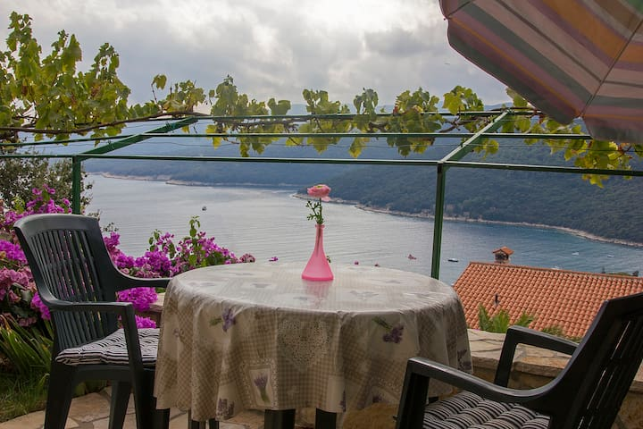 Charming studio w/ terrace,sea view