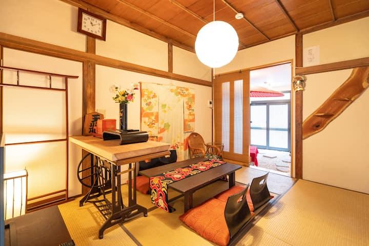 東京の広い一軒家貸切、接触なしの無人チェックイン&消毒液設置、交通便利、スーパー至近