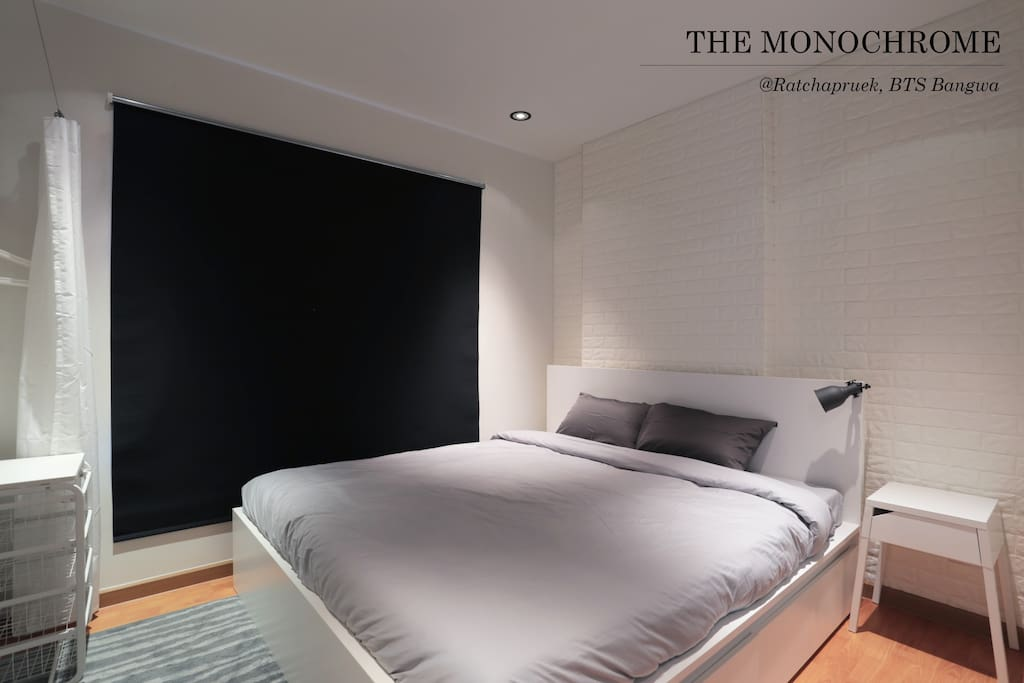 Roller blinds provides absolute privacy and blocks out the light when needed.