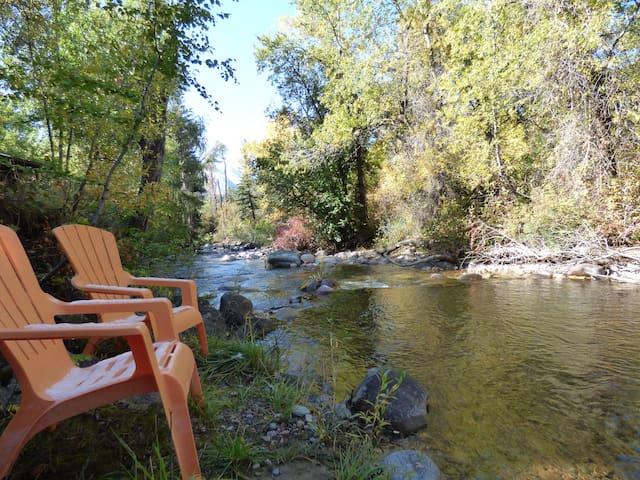 Creekside cabin cabins for rent in glenwood springs for Cabins for rent near glenwood springs