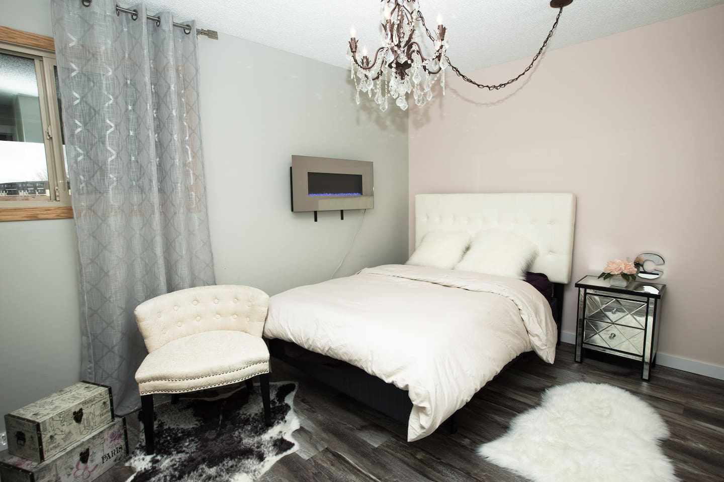 Very cozy mattress and orbus form pillows. Nothing like being in bed by the fireplace. ;)