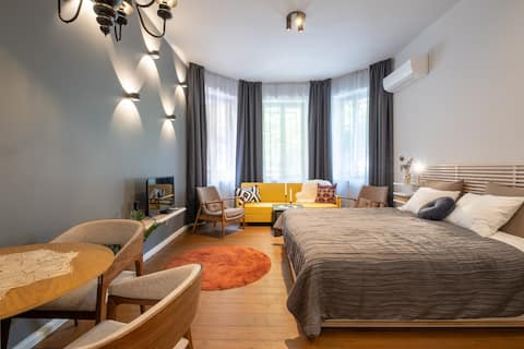 Trendy & Comfy Studio at Vitosha BLVD(Top Center)
