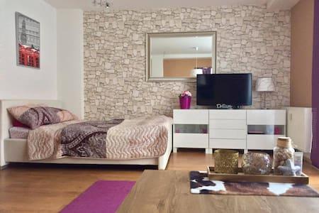 Modern studio, terrace, 20 min to city centre - Praha - Huoneisto