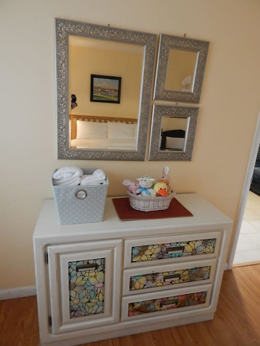 Drawer and mirror