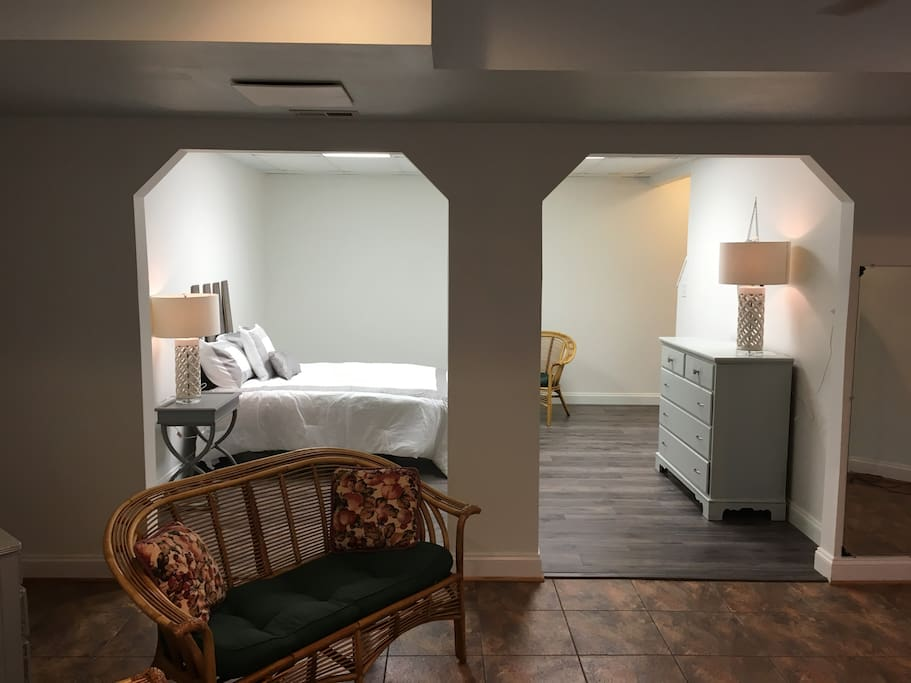 Private entrance to spacious guest suite