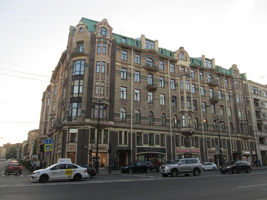 Вид с Невского проспекта, дом 147