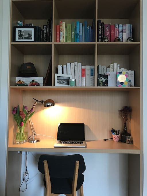 Study/Work Space - and plenty of cook books to draw inspiration from