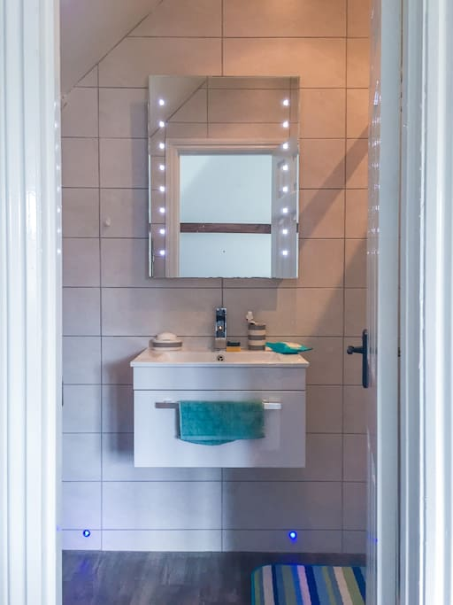 En-suite bathroom with toilet and shower