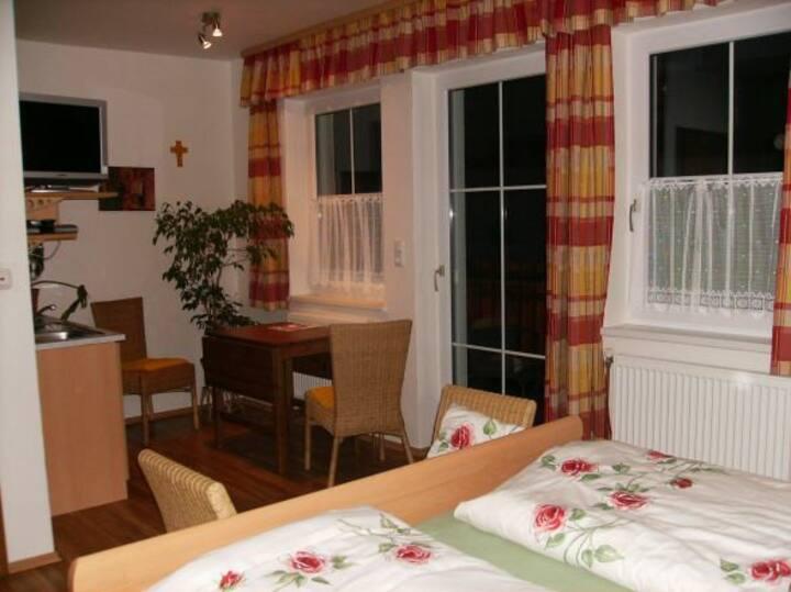 Weingut Zur Schlafmütze Fam. Parth (Herrnbaumgarten), Doppelzimmer Hödeln (22qm) mit Küchenzeile und Balkon