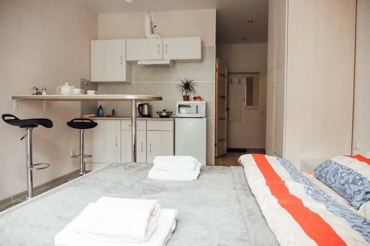 Уютная студия для приятного отдыха в центре