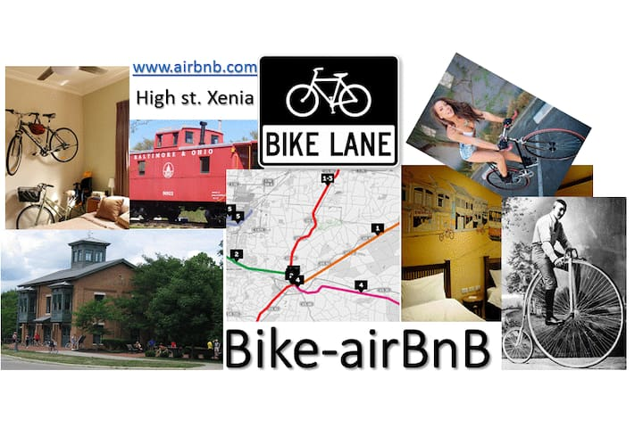 Bike AirBnB 4 rooms Sleeps 16 & entire house.