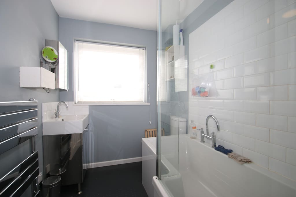 Family bathroom - we also have a toilet and basin downstairs.