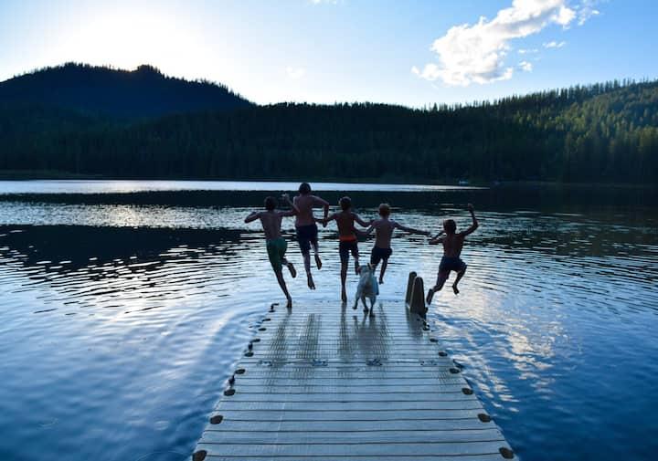 Spoon Lake Camp, Glacier Park