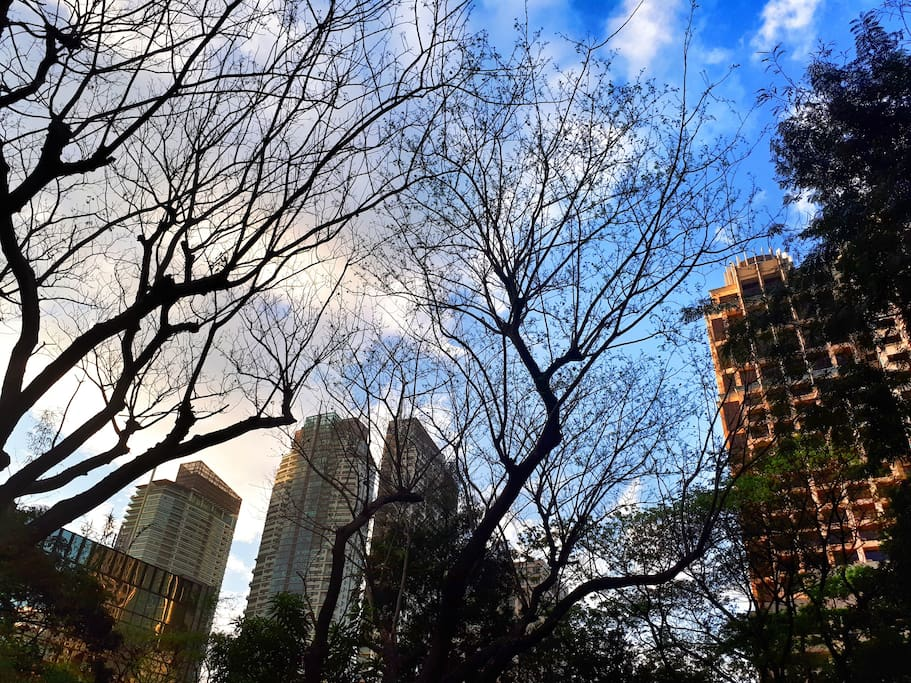 Few steps away, our mini New York Central Park in the middle of Makati CBD