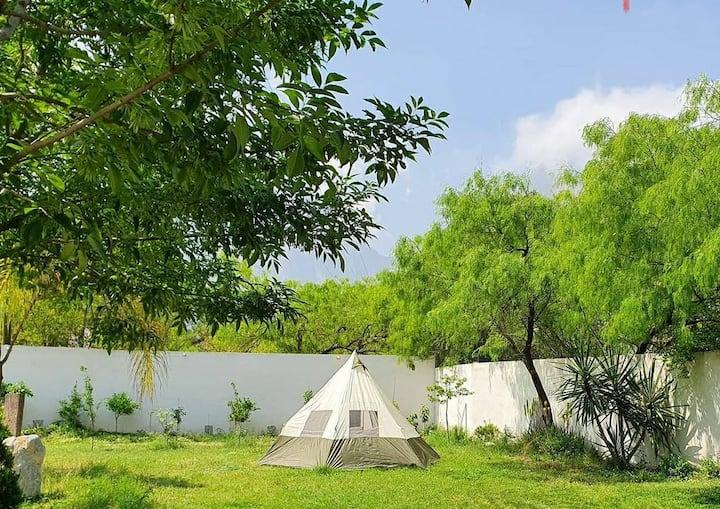 Camping con Alberca Privada en la Huasteca