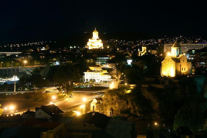 Night view from Casa Citadel !!!